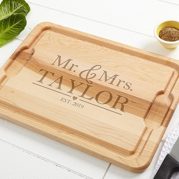 Personalized Cutting Boards - Wedding Couple - 20127