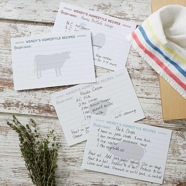 Farmhouse Kitchen Personalized Recipe Book & Cards - 20150