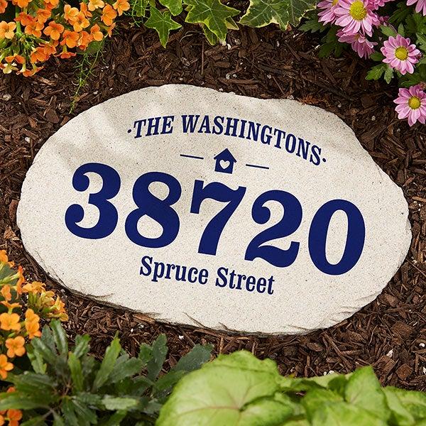 Home Address Personalized Garden Stone - 20170