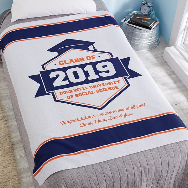 Personalized Sweatshirt Blanket - Class Of - 20174
