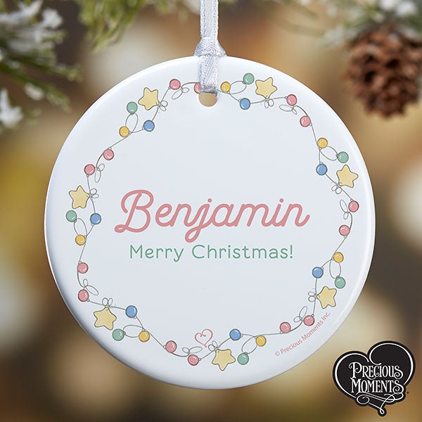 Personalized Precious Moments Festive Lights Ornament - 20189