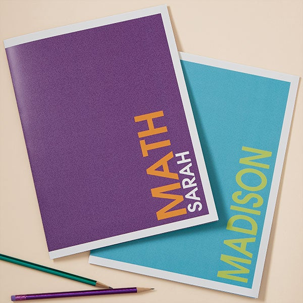 Personalized Folders - Bold Name - 20202