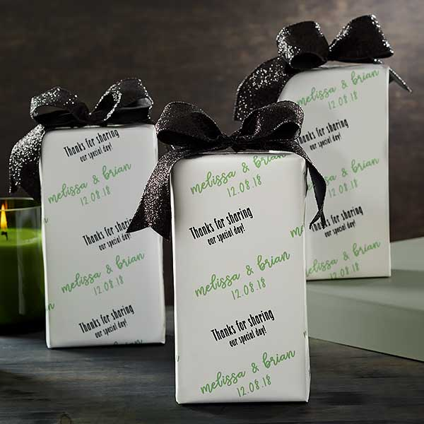 Personalized Wedding Party Wrapping Paper - Step & Repeat - 20204