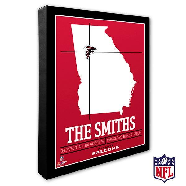 Atlanta Falcons Personalized NFL Wall Art - 20206