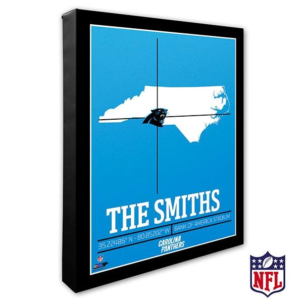Carolina Panthers Personalized NFL Wall Art - 20209