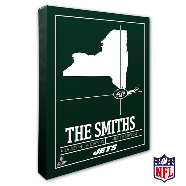 New York Jets Personalized NFL Wall Art - 20228
