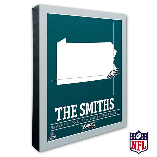 Philadelphia Eagles Personalized NFL Wall Art - 20230