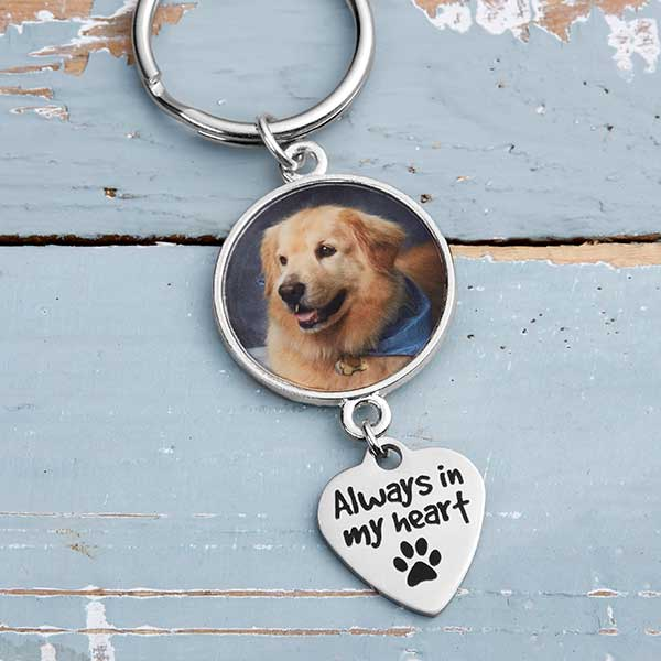 Personalized Pet Memorial Keychain - Always In My Heart - 20238D