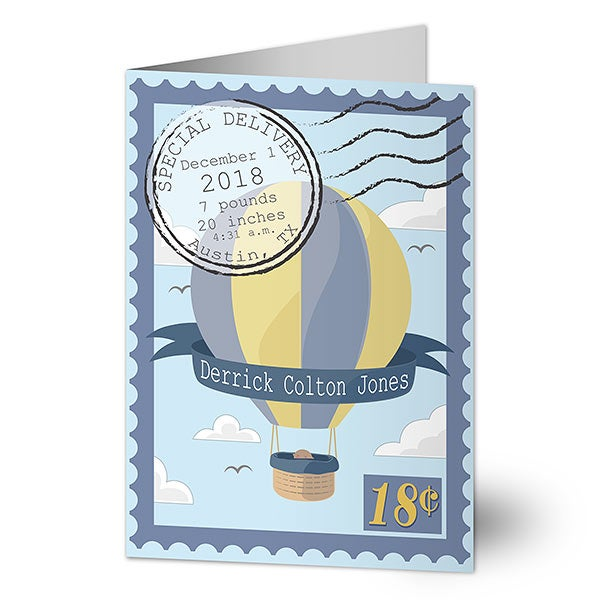 Personalized Baby Boy Card - Special Delivery - 20240