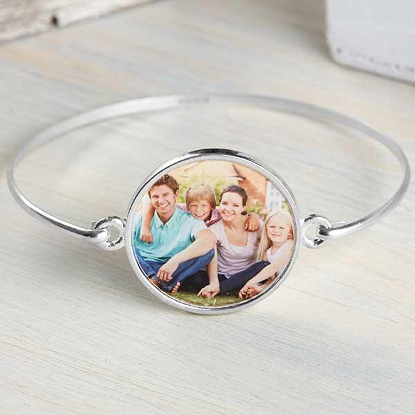 Personalized Photo Bangle Bracelet - 20242D