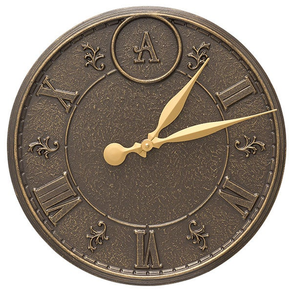 Personalized Indoor Outdoor Wall Clock & Thermometer - 20245D