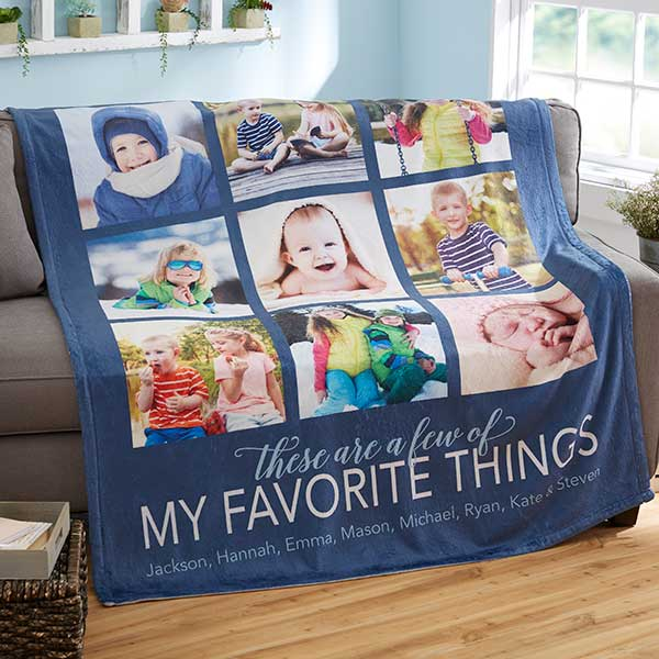 Personalized Photo Blanket - My Favorite Things - 20264
