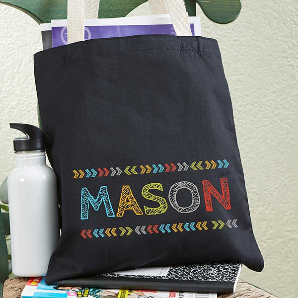 Personalized Tote Bag For Boys - Stencil Name - 20272