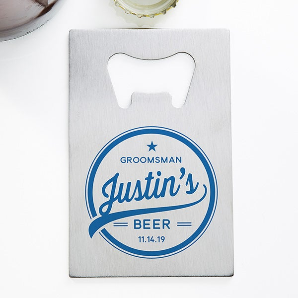 Groomsman Brewing Co. Personalized Bottle Opener - 20402