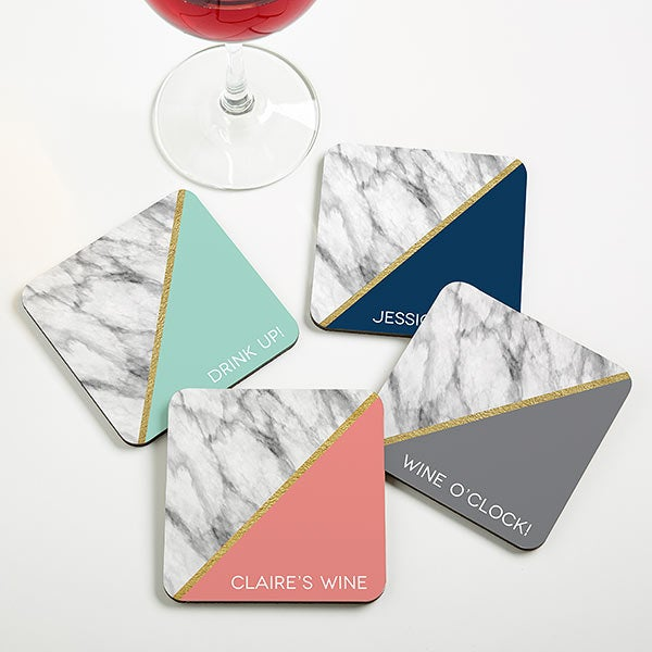 Marble Chic Personalized Coasters - 20410