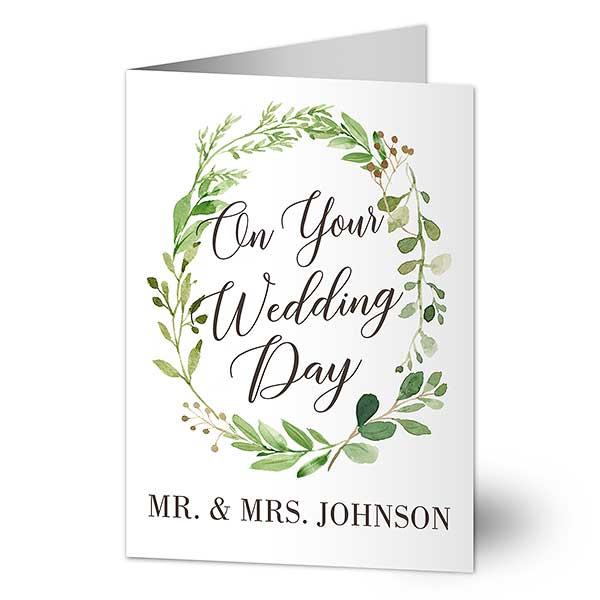 Personalized Wedding Greeting Card - Woodsy Wedding - 20436