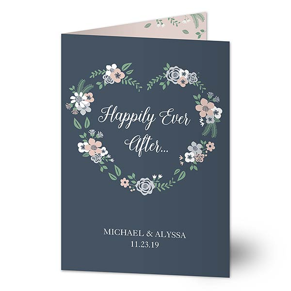 Happily Ever After Personalized Wedding Greeting Card - 20438