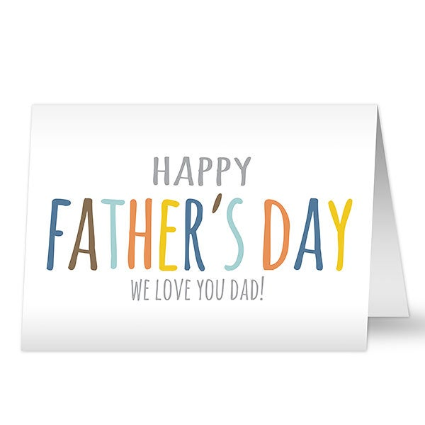 Personalized Father's Day Card - Colorful Letters - 20441