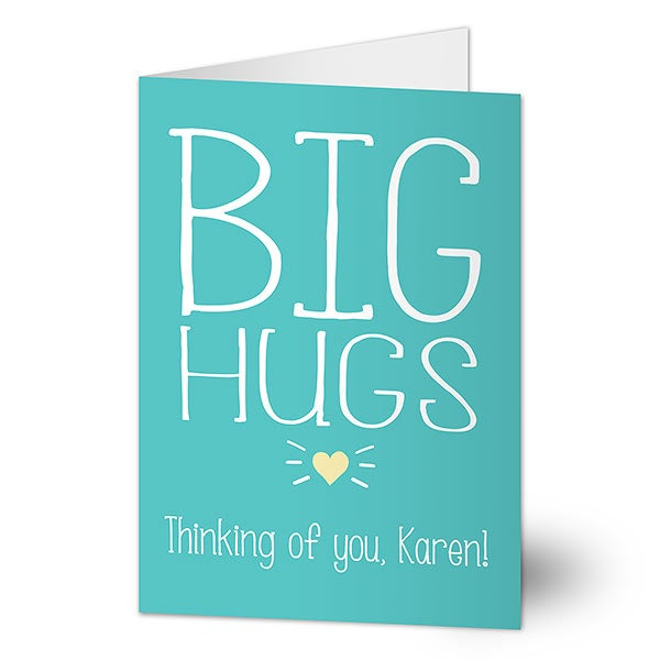Big Hugs Personalized Greeting Card - 20443