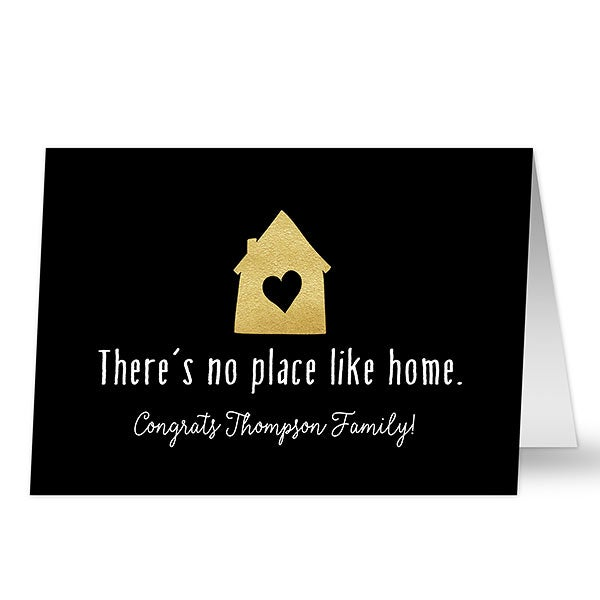Personalized There's No Place Like Home Greeting Card - 20448