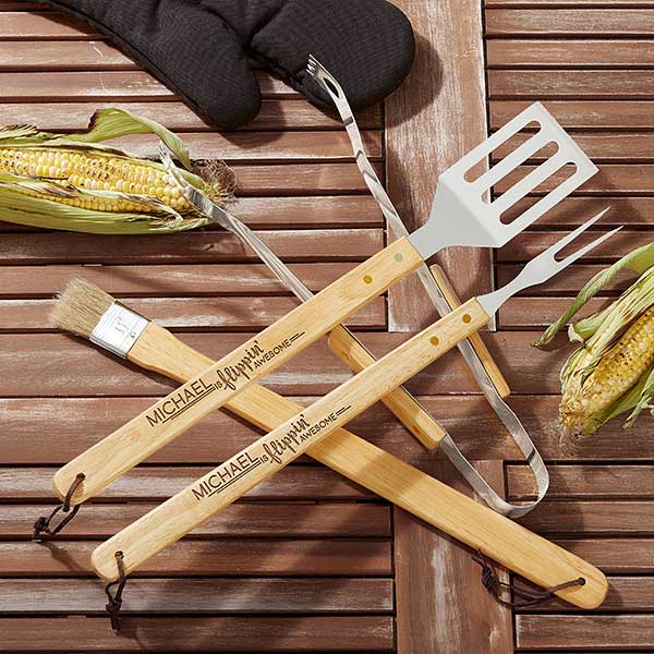 Personalized Grill Utensil Set - You're Flippin' Awesome - 20478