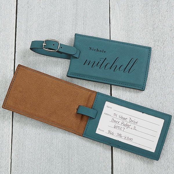Stylish Name Personalized Leather Luggage Tags - 20484