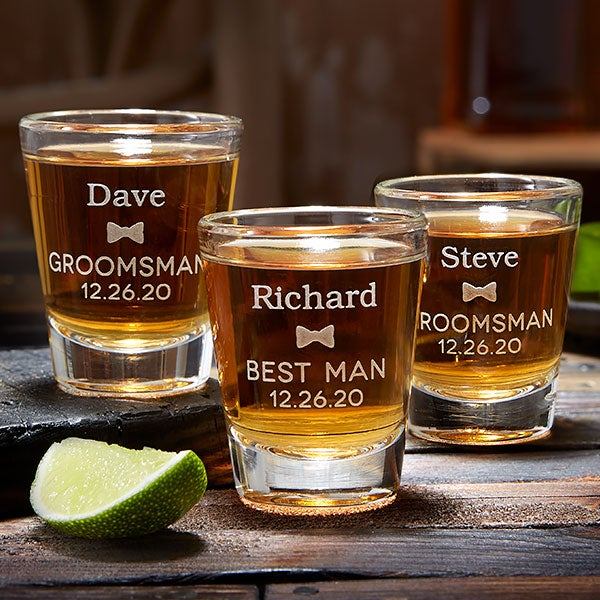Personalized Bridal Party Shot Glasses - 20487
