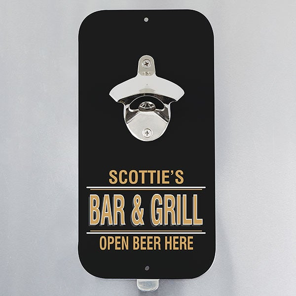 Personalized Magnetic Bottle Opener - Open Beer Here - 20495