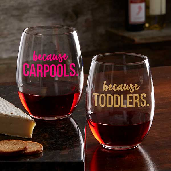 Personalized Wine Glass Custom Wine Glass Any Color MIDDLE GA ONLY