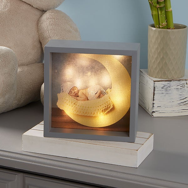 Personalized Baby Photo LED Light Shadow Box - 20533