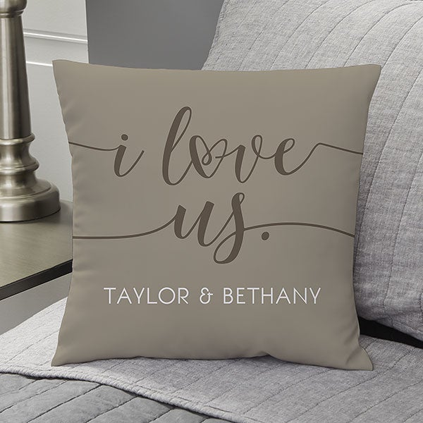Personalized Throw Pillows - I Love Us - 20563
