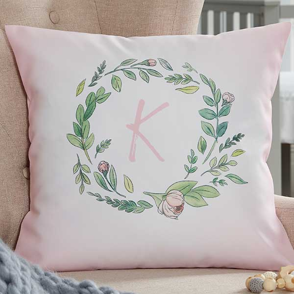 Woodland Floral Personalized Baby Pillows - 20567