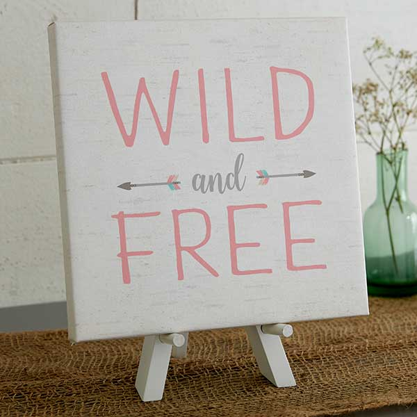 Wild & Free Personalized Baby Boho Wall Art - 20586