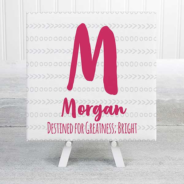 Personalized Name Canvas Prints For Girls - 20588