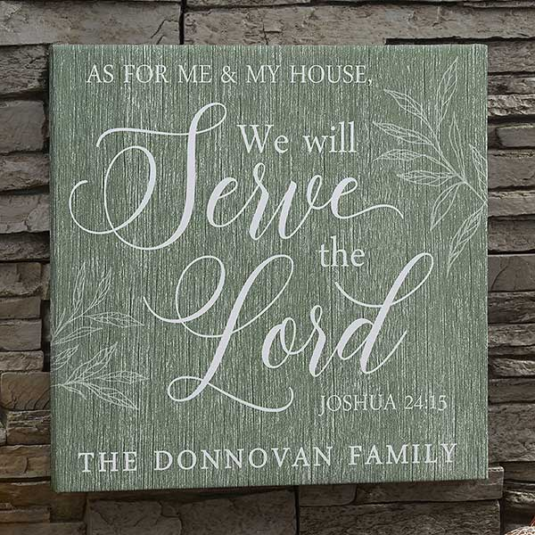 We Will Server The Lord Personalized Canvas Prints - 20591