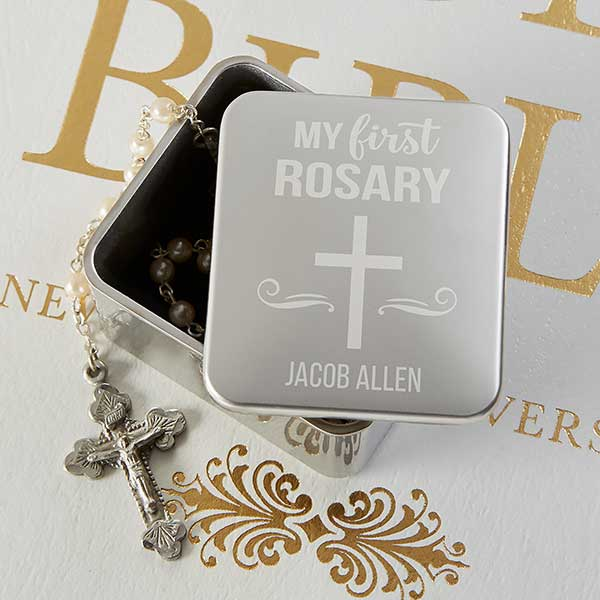 Monogrammed rosary pouch Personalized rosary pouch In Memoriam gift Rosary case
