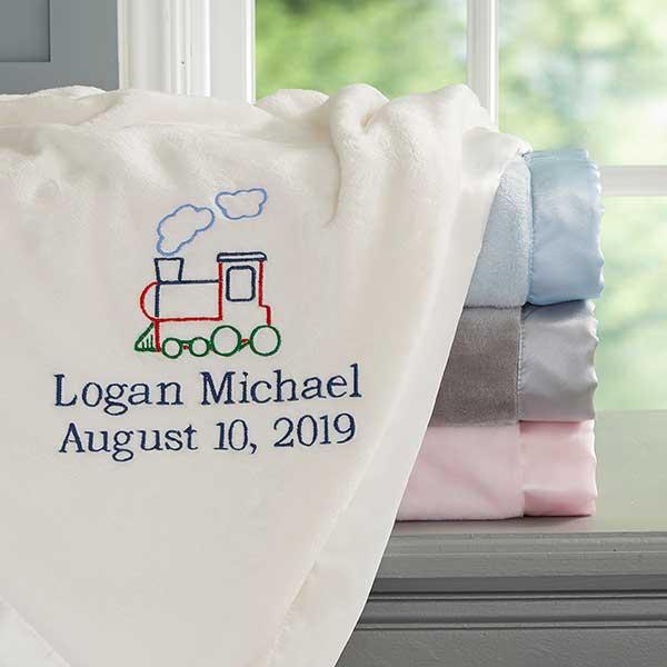 Choo Choo Train Personalized Baby Blanket - 20595