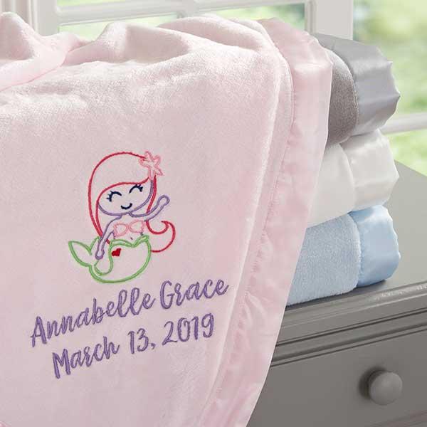 Mermaid Personalized Baby Blanket - 20606