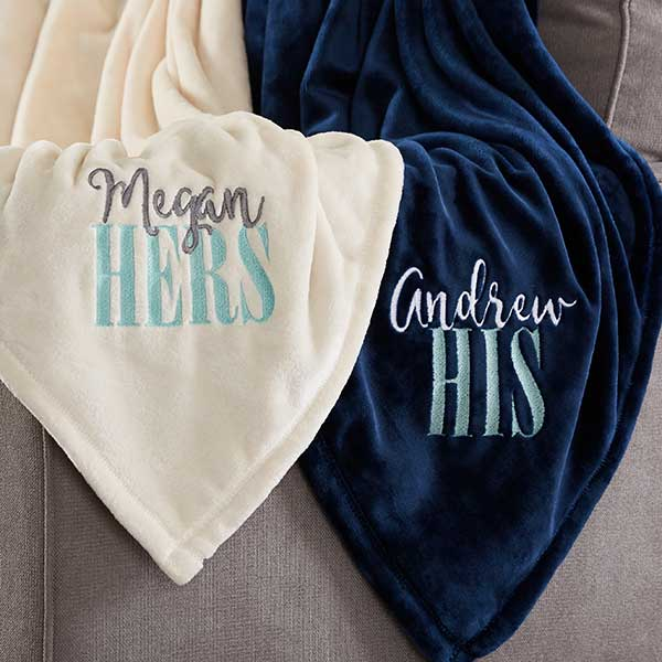Personalized Fleece Blankets - His & Hers - 20608