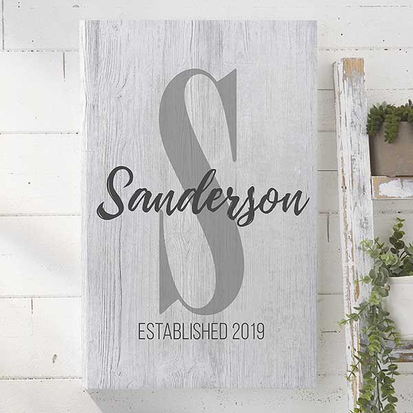 Personalized Canvas Prints - Rustic Farmhouse Initial - 20621
