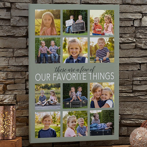 My Favorite Things Custom Photo Canvas Prints - 20622