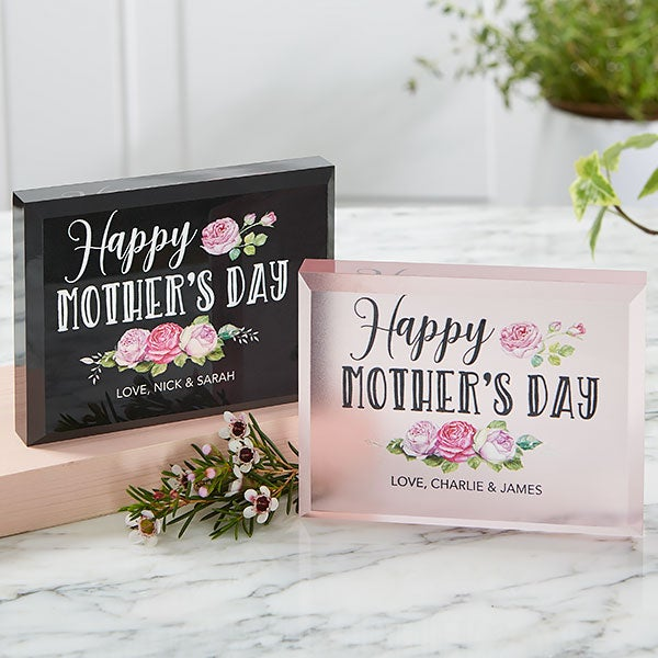 Happy Mother's Day Personalized Colored Keepsake - 20636