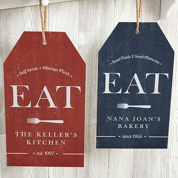 EAT Sign For Kitchen Personalized Wall Tag - 20641