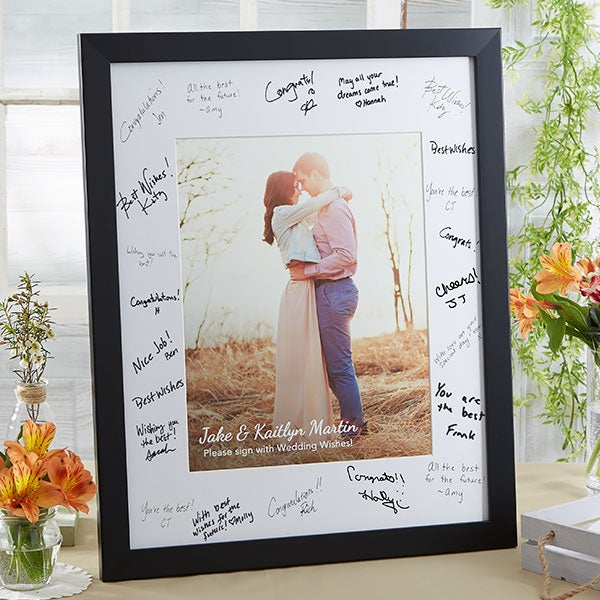 personalized wedding guest book signature frame personalized 8x10 wedding signature photo frame