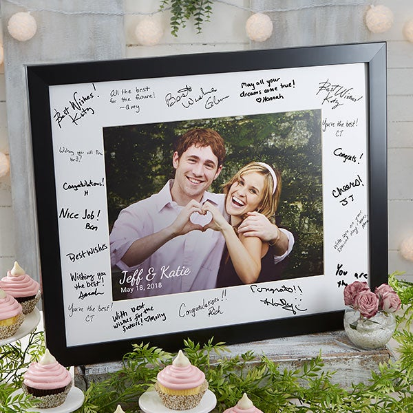 Personalized 16x20 Wedding Autograph Picture Frame Wedding Gifts