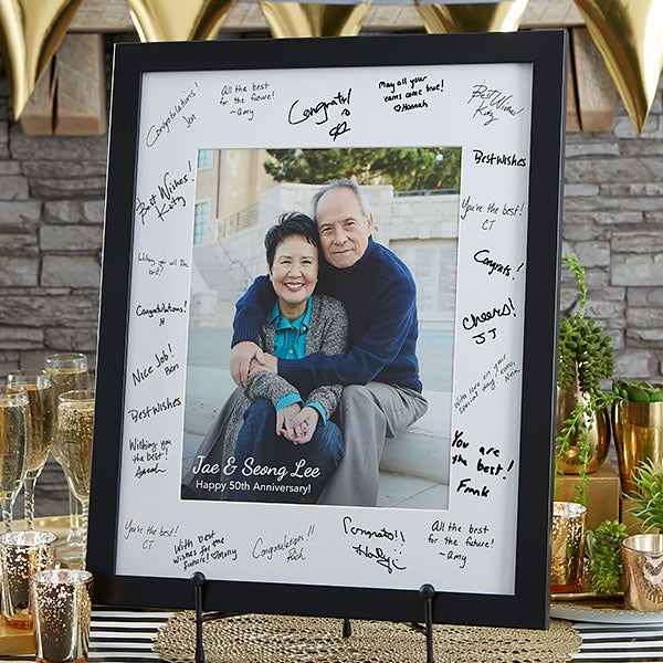 Personalized Anniversary Signature Photo Frame - 20651
