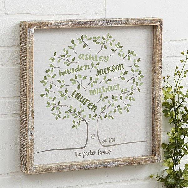 Family Tree Of Life 12x12 Wall Art For Her