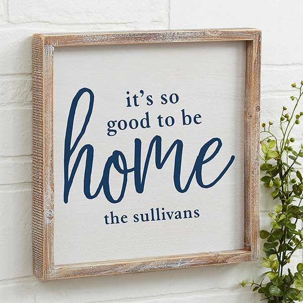 Good To Be Home Personalized Rustic Wall Art - 20686