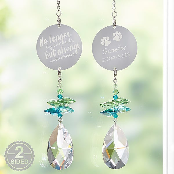 Personalized Rainbow Suncatcher Pet Memorial Gift - 20693