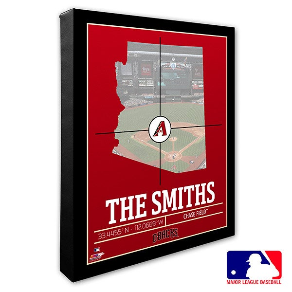 Arizona Diamondbacks Personalized MLB Wall Art - 20694